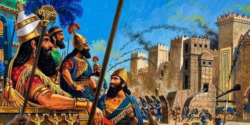 The Assyrians Painting
